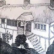 Garden Cottage Poster by Diane Fine