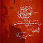 Henry Ford Engine Patent Drawing From 1928 Poster by Aged Pixel