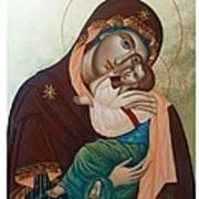 Holy Virgin Of Tenderness Poster by Janeta Todorova