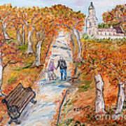 L'autunno Della Vita Poster by Loredana Messina