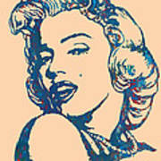 Marilyn Monroe Stylised Pop Art Drawing Sketch Poster Poster by Kim Wang