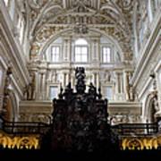 Mezquita Cathedral Interior In Cordoba Poster by Artur Bogacki