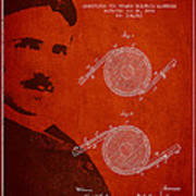 Nikola Tesla Patent From 1886 Poster by Aged Pixel