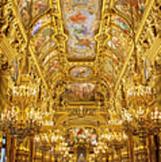 Palais Garnier Interior Poster by Brian Jannsen