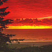 Red Pacific Poster by Robert Bales