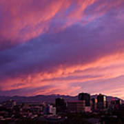 Salt Lake City Sunset Poster by Rona Black