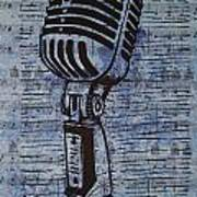 Shure 55s On Music Poster by William Cauthern