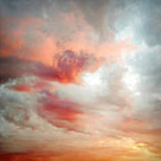 Sunset Sky Poster by Les Cunliffe