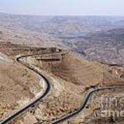 The Kings Highway At Wadi Mujib Jordan Poster by Robert Preston