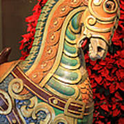 Vintage Carousel Horse Poster by Suzanne Gaff