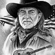 Willie Nelson American Legend Poster by Andrew Read