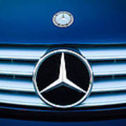 2003 Cl Mercedes Hood Ornament And Emblem Poster by Jill Reger