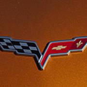2007 Chevrolet Corvette Indy Pace Car Emblem Poster by Jill Reger