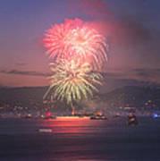 2014 4th Of July Firework Celebration.  Poster by Jason Choy