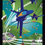 2014 Usna Commissioning Week Poster by Joe Barsin