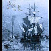 Blame It On The Rum Schooner Poster by John Stephens