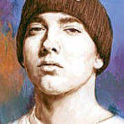 Eminem - Stylised Drawing Art Poster Poster by Kim Wang