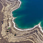 Sinkholes In Northern Dead Sea Area Poster by Ofir Ben Tov