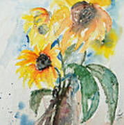 Sunflowers Poster by Ismeta Gruenwald