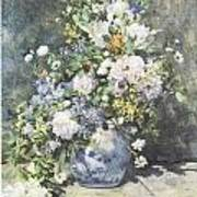 Vase Of Flowers Poster by Pierre-Auguste Renoir