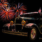 31 Five Window Coupe On The Fourth Of July Poster by Chas Sinklier