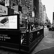 34th Street Entrance To Penn Station Subway New York City Usa Poster by Joe Fox