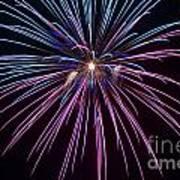 4th Of July 2014 Fireworks Bridgeport Hill Clarksburg Wv 1 Poster by Howard Tenke