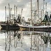 Bayou Labatre' Al Shrimp Boat Reflections Poster by Jay Blackburn