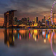 Singapore City Poster by Anek Suwannaphoom