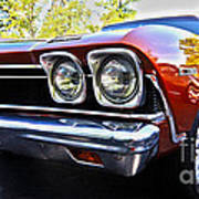 68 Chevelle  Color Poster by Cheryl Young