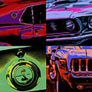 '69 Mustang Poster by Gordon Dean II