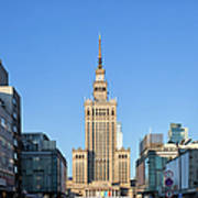 Palace Of Culture And Science In Warsaw Poster by Artur Bogacki