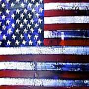 9-11 Flag Poster by Richard Sean Manning