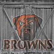 Cleveland Browns Poster by Joe Hamilton