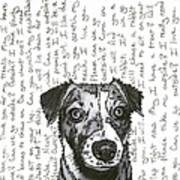A Conversation With A Jack Russell Terrier Poster by Salvadore Delvisco
