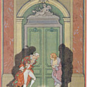 A Couple In Candlelight Poster by Georges Barbier