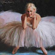 A Dancer's Ode To Marilyn Poster by Anna Rose Bain