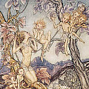 A Fairy Song From A Midsummer Nights Dream Poster by Arthur Rackham