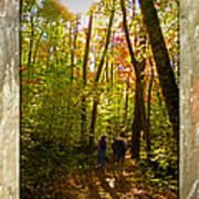 A Fall Walk With My Best Friend Poster by Sandi OReilly