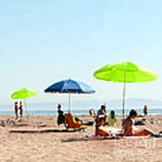 A Fine Day At The Beach Poster by Artist and Photographer Laura Wrede