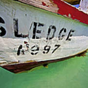 A Fishing Boat Named Sledge Poster by David Letts