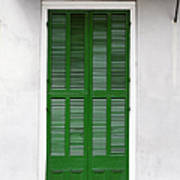 A Green Door In New Orleans Poster by Christine Till