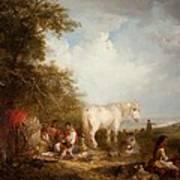 A Gypsy Scene Poster by Edward Robert Smythe