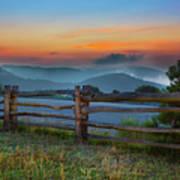 A New Beginning - Blue Ridge Parkway Sunrise I Poster by Dan Carmichael