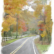A Quiet Country Road Poster by Bill Losey