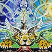 A Shaman's Journey Through The Heart Of The Sun Poster by Morgan  Mandala Manley