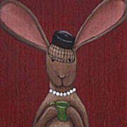 A Sophisticated Bunny Poster by Christy Beckwith