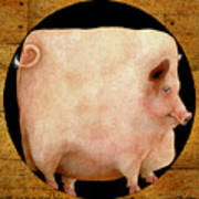 A Square Pig In A Round Hole... Poster by Will Bullas