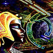 A  Stellar  Lightship Pilot Poster by Hartmut Jager