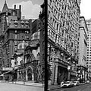 A Tail Of Two Cities - South Broad Then And Now Poster by Bill Cannon